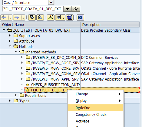 Delete data in SAP Backend using OData Service - SAP ABAP