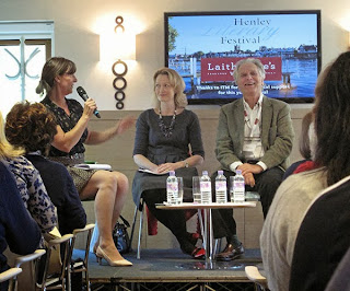 Lucy Cavendish, Emma Clark Lam and Clive Limpkin at the Henley Literary Festival
