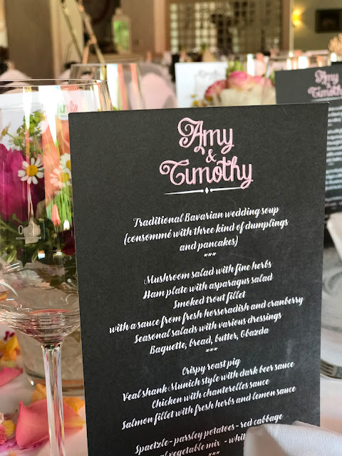 menu cards chalk board style,  shades of raspberry and apricot, lake-side wedding in the Bavarian mountains, Garmisch-Partenkirchen, Germany, wedding venue Riessersee Hotel, wedding planner Uschi Glas, getting married abroad