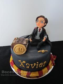 Bolo de aniversário com o Harry Potter