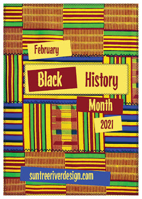 Black History Month 2021 Poster by suntreeriver design