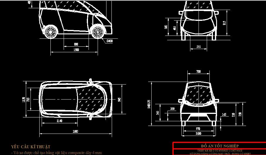 Thiết kế xe ô tô hybrid