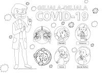 Poster Mewarna - Gejala-gejala Covid-19