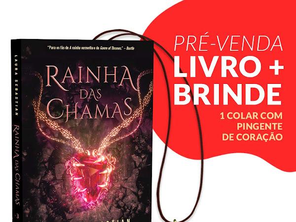 Pré-venda do último livro da trilogia Princesa das Cinzas, de Laura Sebastian: Rainha das Chamas