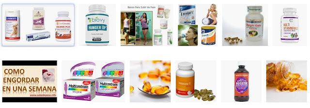 Vitaminas para subir de peso
