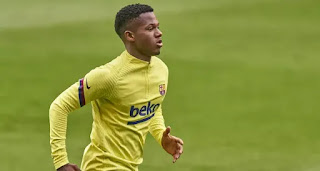 Barcelona starlet Ansu Fati finally return to pitch training after months out