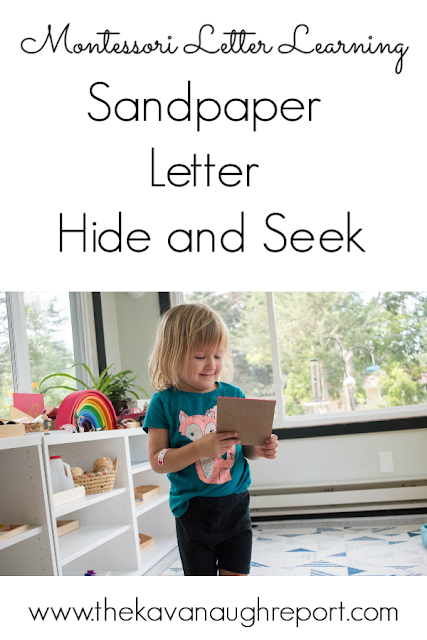 A fun sandpaper letter extension game to learn letter sounds