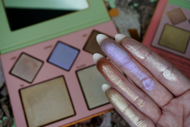 The Layers highlighting palette swatches in collaboration with Rachh loves review Pixi beauty
