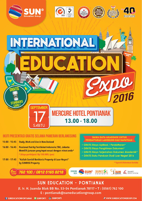Spanduk atau media Promosi SUN EDUCATION