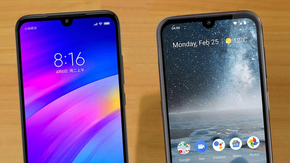مقارنة بين هاتف Redmi 7 و Nokia 4.2