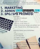 Karir Surabaya di PT. MG Group Terbaru Maret 2020
