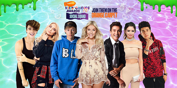 Nickelodeon-Internacional -primer-Kids-Choice-Awards-Social-Squad