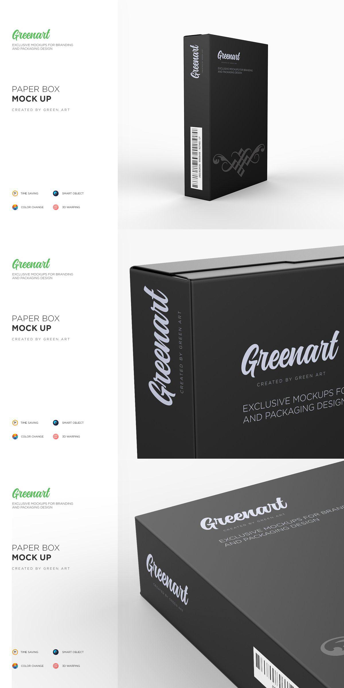 Paper Box Mockup 2651457 Free Download