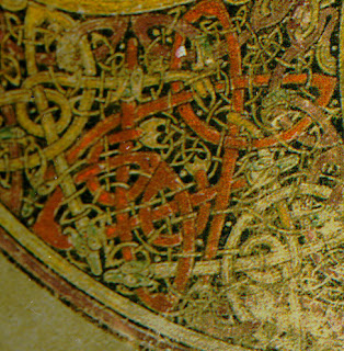 Detail of Chi Rho Page, Book of Kells, Wikimedia