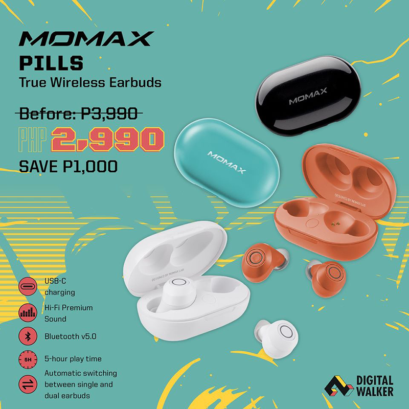 Digital Walker releases Momax Pills TWS earbuds, introductory price is PHP 2,990!