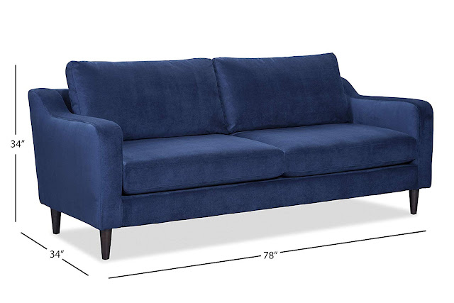 classy blue sofa