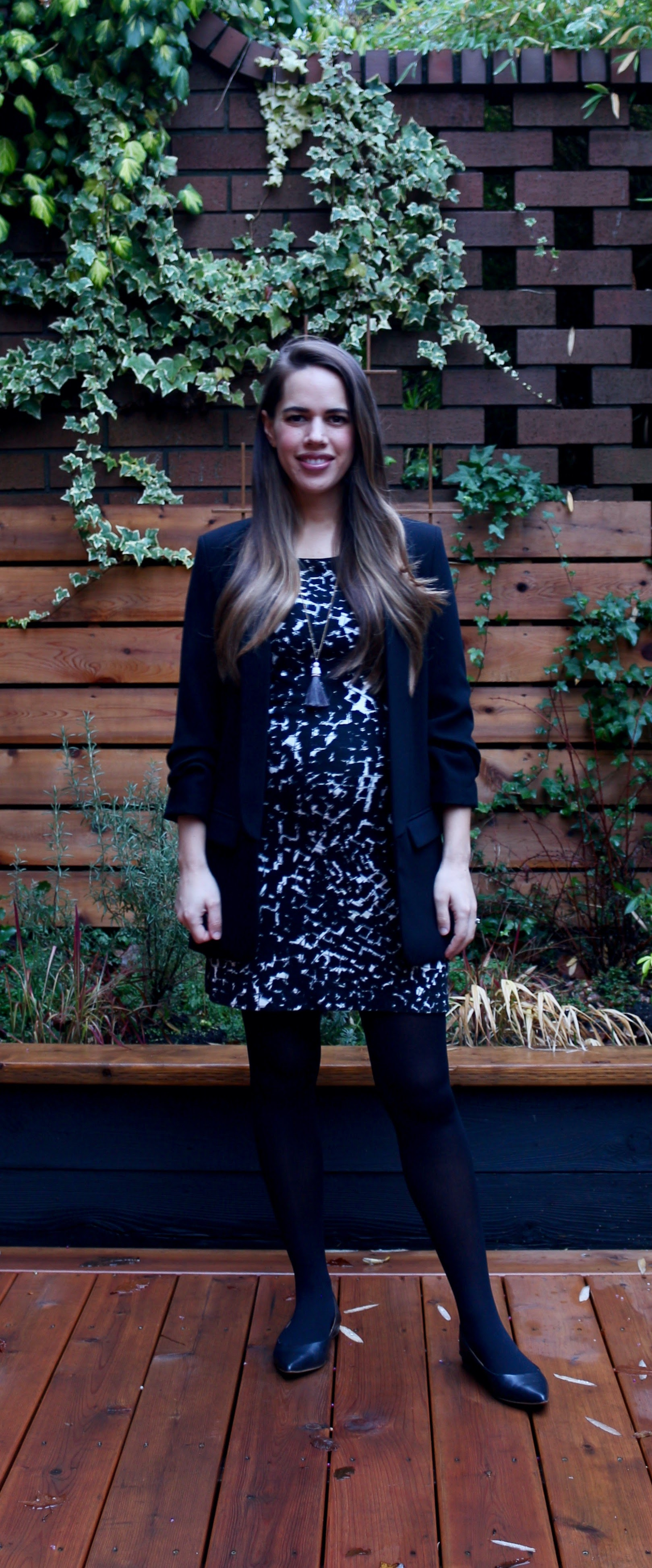 Jules in Flats - Knit Mini Dress with Blazer (Business Casual Workwear on a Budget)