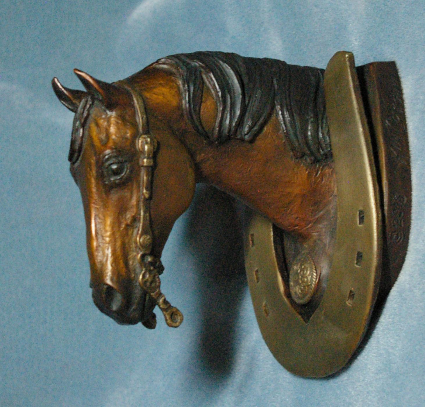 Bronze horse statues horse art the real horse bronze - Horse door knocker ...