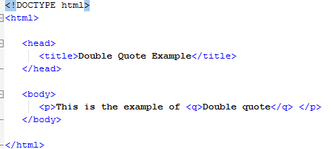 HTML Short Quotations
