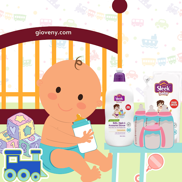 Sleek baby pembersih botol
