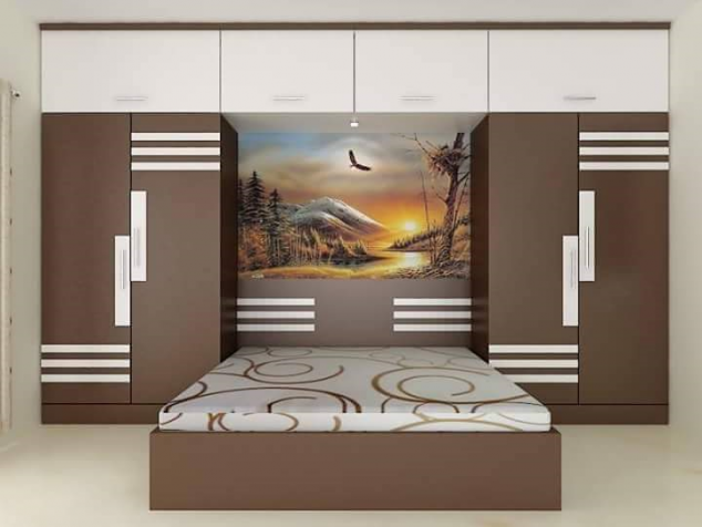 Simple stylish bedroom wardrobe designs