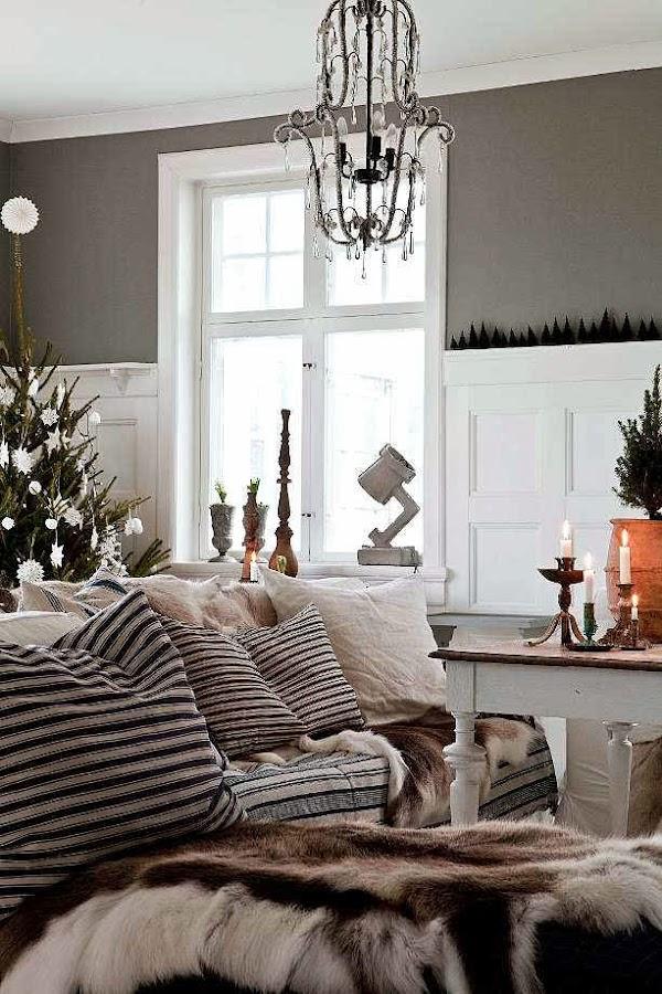 Casa nordica con un interior encantador decoraci n for Decoracion casa nordica
