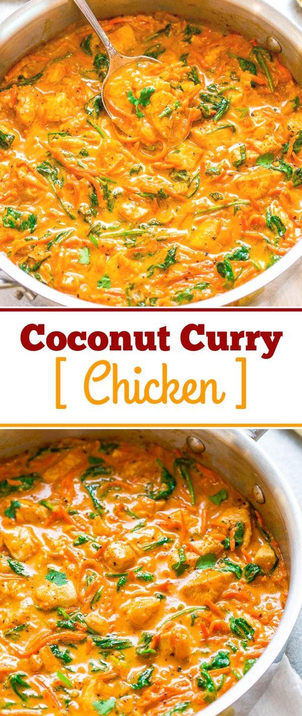 Coconut Curry Chicken #Coconut #Curry #Chicken Healthy Recipes For Weight Loss, Healthy Recipes Easy, Healthy Recipes Dinner, Healthy Recipes Best, Healthy Recipes On A Budget, Healthy Recipes Clean, Healthy Recipes Breakfast,