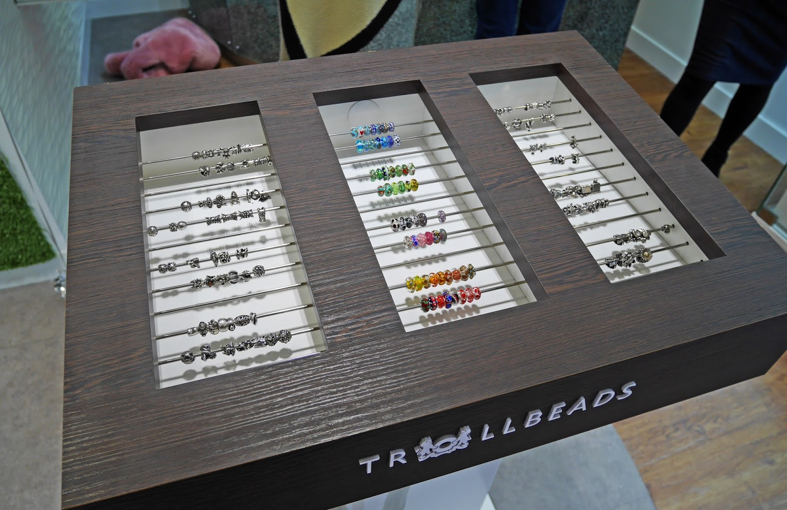 Trollbeads on display at the Iconic Jewellery Store bloggers event in Canterbury