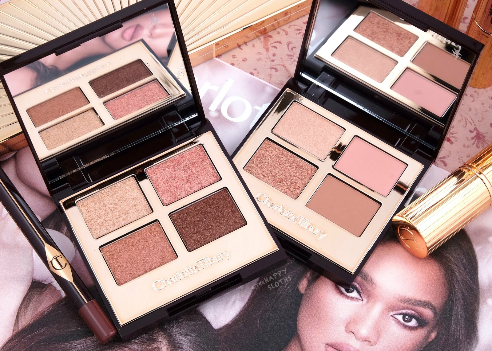 Charlotte Tilbury | Pillow Talk Luxury Palette & Pillow Talk Luxury Palette of Pops: Review and Swatches