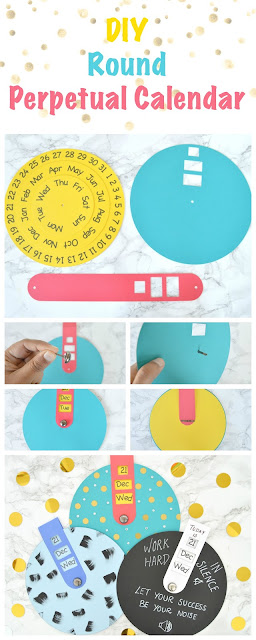 How to make a round perpetual calendar using silhouette or printer