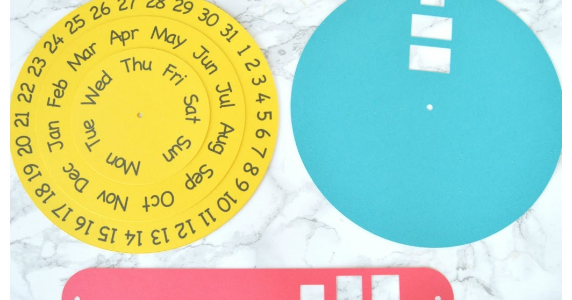Vikalpah DIY round Perpetual Calendar with free printable template - perpetual calendar templates