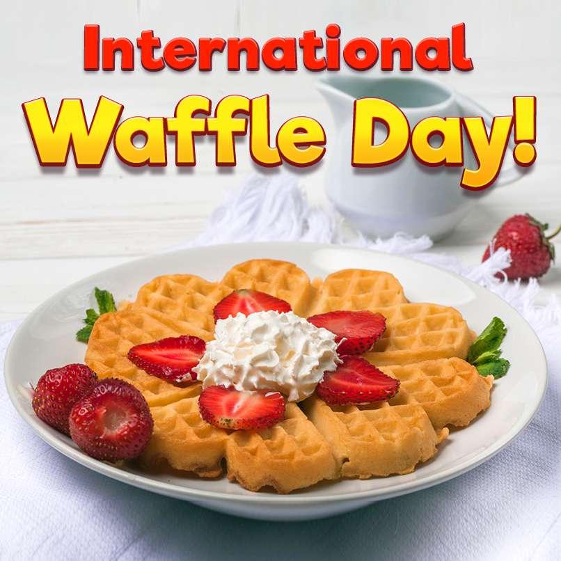 International Waffle Day Wishes Unique Image