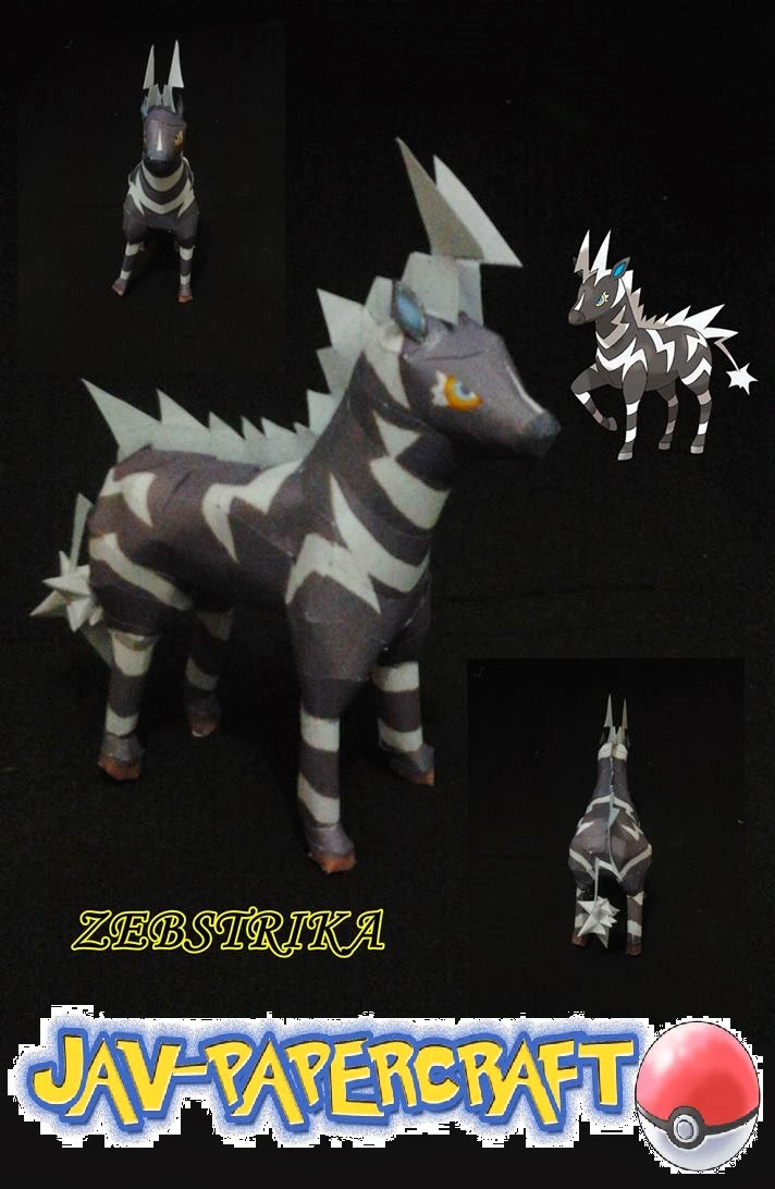 Pokemon Zebstrika Papercraft