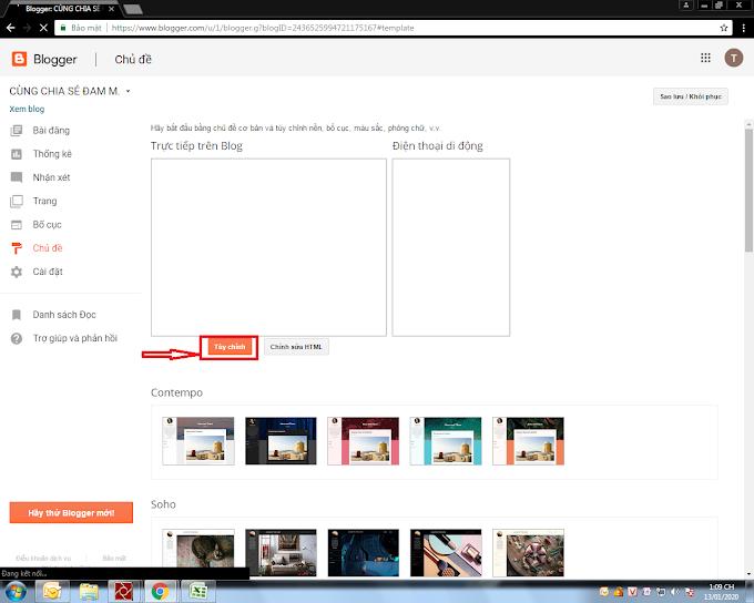 Cách thêm css vào blog hoặc blogspot blog