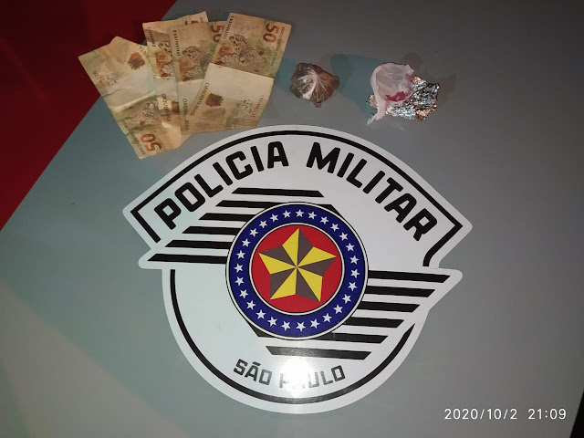 Polícia Militar prende homem em Inúbia Paulista por tráfico de drogas