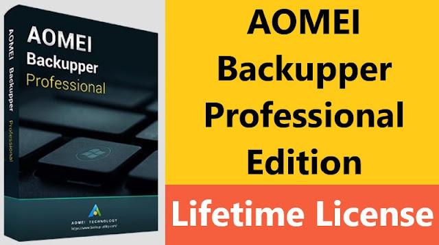AOMEI Backupper Professional Edition Lifetime Subscription License