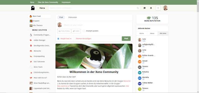Screenshot der Xeno Community