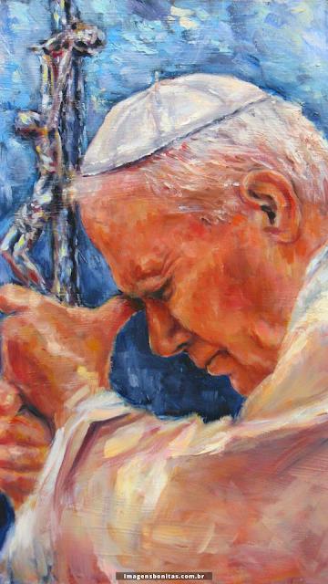 Wallpaper de São João Paulo II para celular