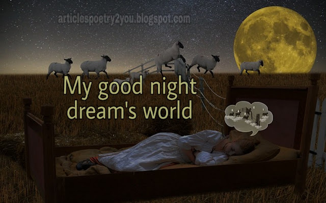 Dream world with good night lovely images