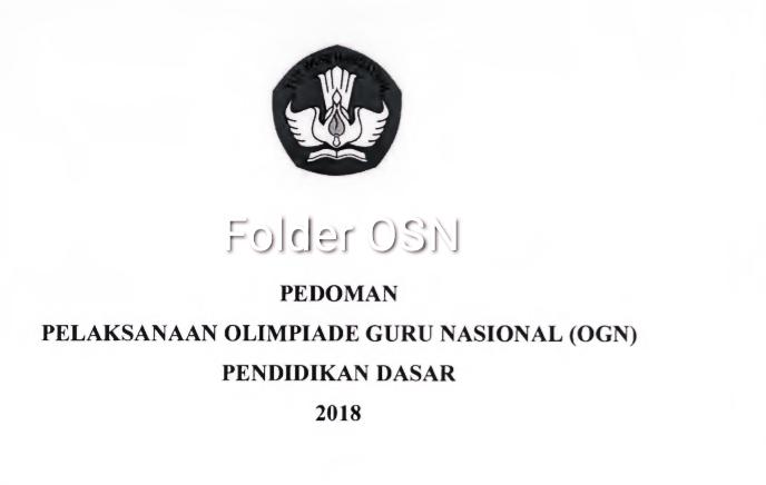 Juknis Ogn Sd Dan Ogn Smp 2018 Folder Osn