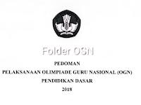 Juknis OGN SD dan OGN SMP 2018