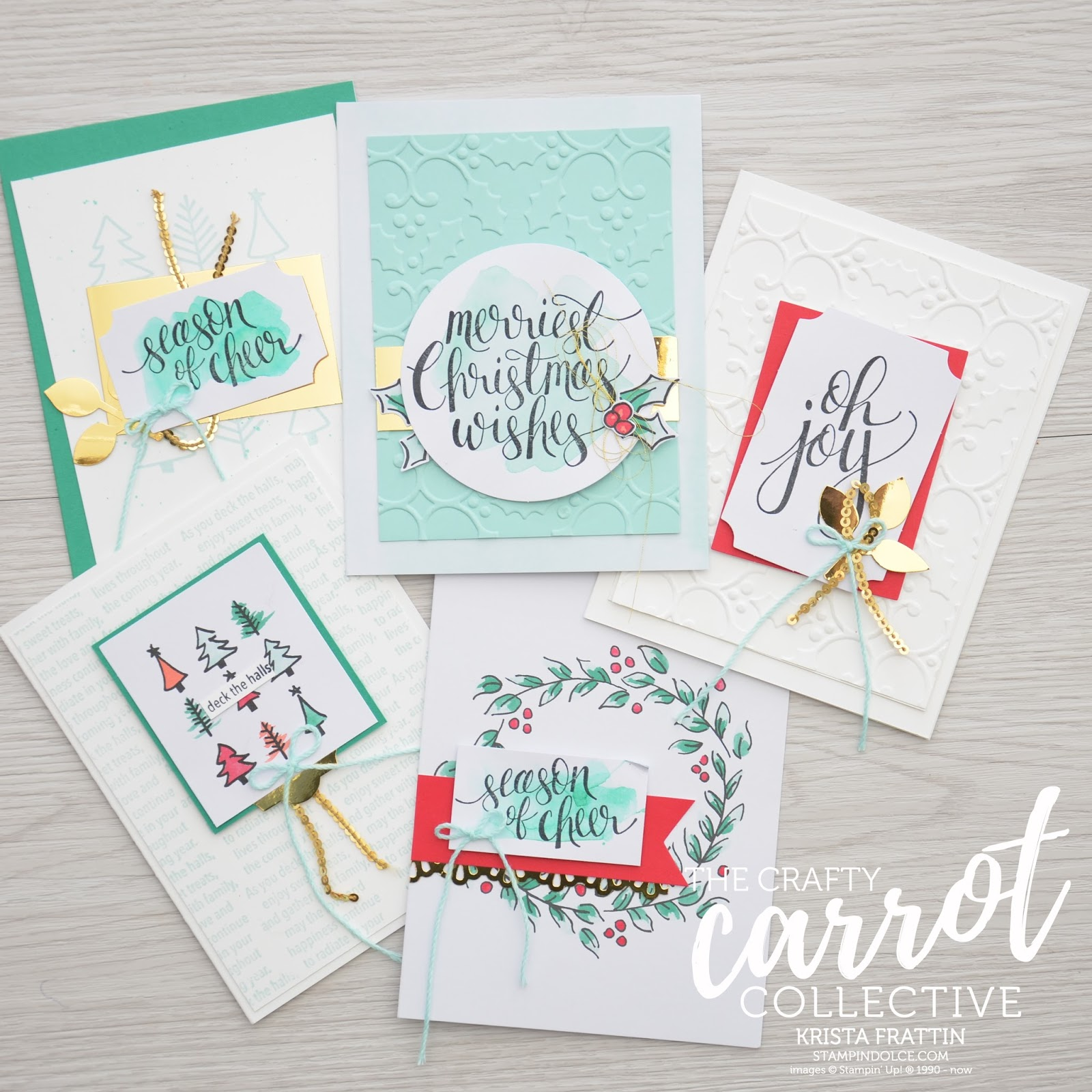 Stampin\' Dolce: Watercolor Christmas - Crafty Carrot Co Blog Hop