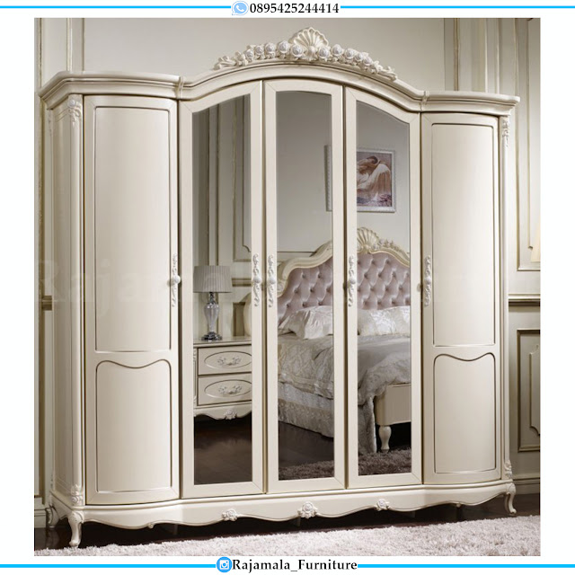 Lemari Baju Kaca Desain Mewah Luxurious Italian Style RM-0302