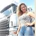 Caminhoneira Sheila Bellaver sofre acidente