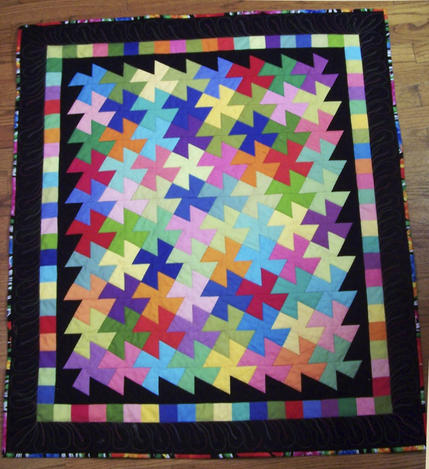 Vintage Postcard Quilt And Lil Twister And