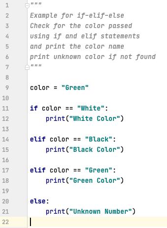 if-elif-else statements in Python