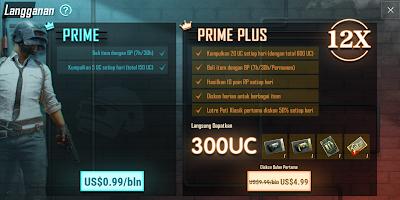 Keuntungan dan Hadiah Prime dan Prime Plus Pubg