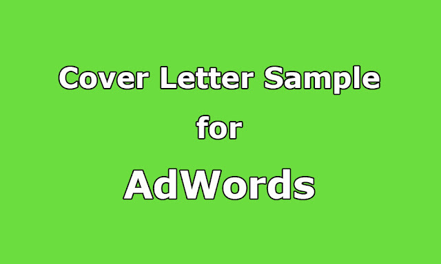 cover letter sample for adwords  analytics and search