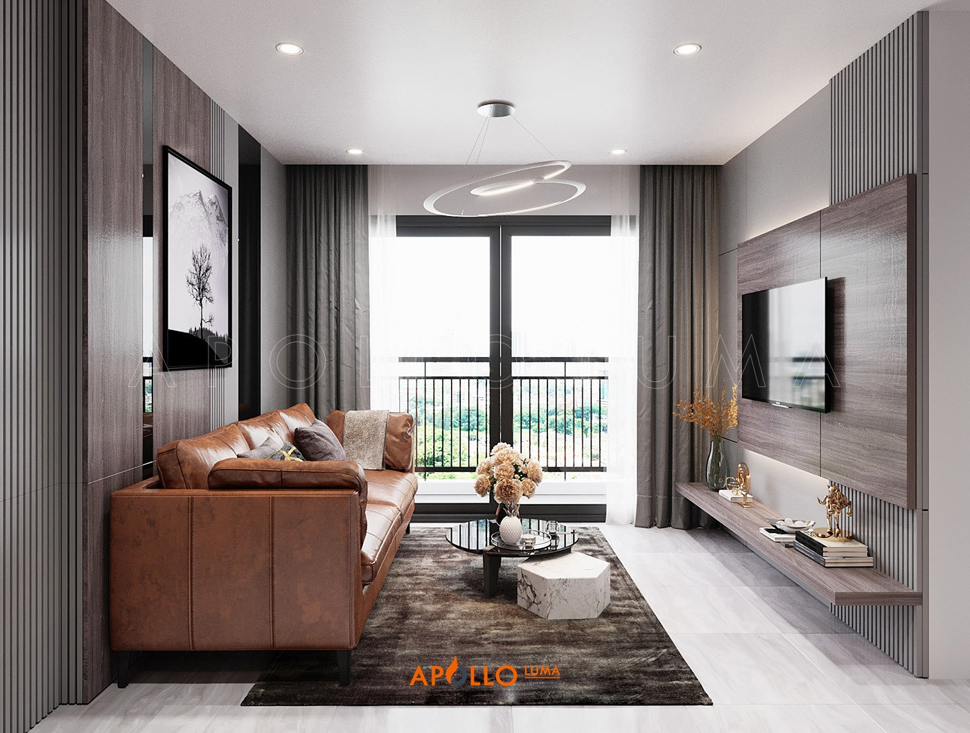 Thiết kế nội thất căn 3PN (75m2) S1.09-11 Vinhomes Ocean Park