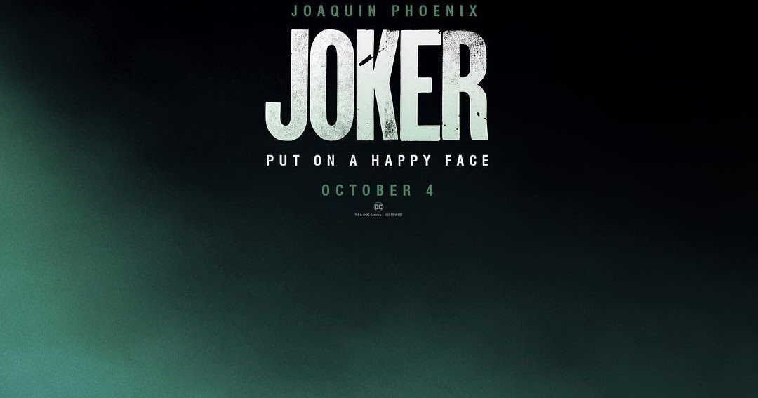 put on a happy face the joker poster is here ahead of